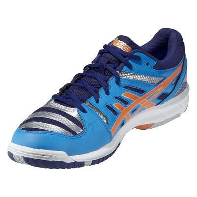Asics Mens GEL-Beyond 4 Indoor Court Shoes - Diva Blue/Neon Orange - Tennisnuts.com