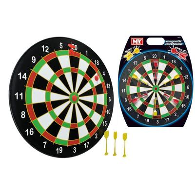 M.Y Doink It 16 Inch Magnetic Dartboard and 6 Darts