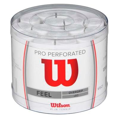 Wilson Pro Overgrip Perforated (Pack of 60) - White