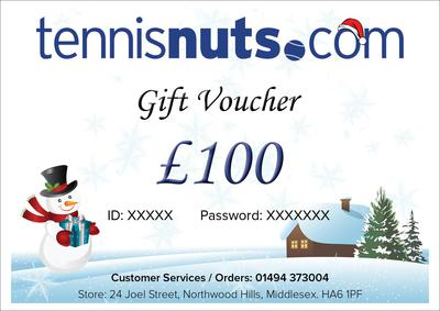 Tennisnuts.com Christmas Gift e-Vouchers - From £10 to £200