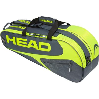 Head Elite Combi 6 Racket Bag - Grey/Yellow