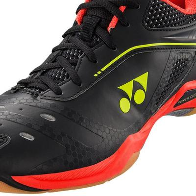 Yonex Mens Power Cushion 65 Z Badminton Shoes - Black/Bright Red