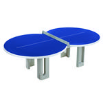 Butterfly Figure Eight Concrete 25mm Outdoor Table Tennis Table - Blue