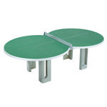 Butterfly Figure Eight Concrete 25mm Outdoor Table Tennis Table - Granite Green