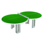 Butterfly Figure Eight Concrete 25mm Outdoor Table Tennis Table - Green