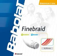 Babolat Finebraid 0.70 Badminton String Set - White