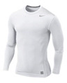 Nike Pro Core Long Sleeve Tight Crew - White/Grey