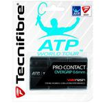 Tecnifibre ATP Pro Contact Overgrips (Pack of 3) - Black