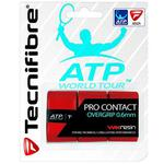 Tecnifibre ATP Pro Contact Overgrips (Pack of 3) - Red