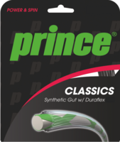 Prince Synthetic Gut w/Duraflex 15L/16 Tennis Strings - Sets (Multiple Colours Available)