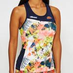 Ellesse Womens Mallow Vest Top - Navy/Print