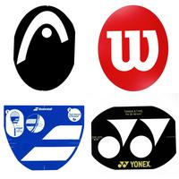 Tennis Racket Brands Stencil Cards