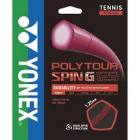 Yonex PolyTour Spin G 16L (1.25mm) Tennis String Set - Dark Red
