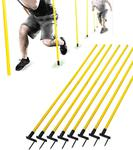 "SKLZ Outdoor 60"" (150cm) Agility Poles - Set of 8"