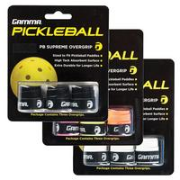 Gamma Supreme Pickleball Overgrip (Pack of 3) - Black