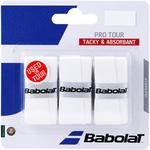 Babolat Pro Tour Overgrips (Pack of 3) - White