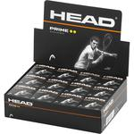 Head Prime Double Yellow Dot Squash Balls - 1 Dozen