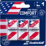 Babolat Pro Tour Overgrips (Pack of 3) - Blue/Red