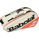 Babolat Pure Strike 12 Racket Bag - White/Fluo Strike