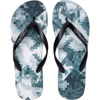 Head Printed Flip Flops - Black/White
