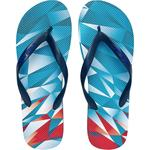 Head Printed Flip Flops - Blue/Red