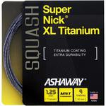 Ashaway Supernick XL Titanium Squash String Set - Silver/Red/Blue