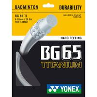 Yonex BG65Ti Badminton String Set (Choose Colour)