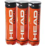 Head Radical Tennis Balls (4 Ball Can) - 1 Dozen (3 Cans)