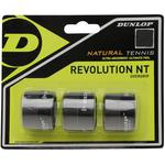Dunlop Revolution Natural Tennis Overgrips - Black (Pack of 3)