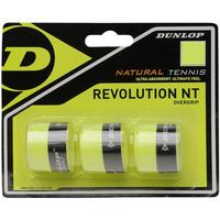 Dunlop Revolution Natural Tennis Overgrips - Lime (Pack of 3)
