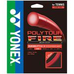 Yonex Poly Tour Fire 17 (1.20mm) Tennis String Set - Red