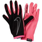 Nike Womens Rally Running Gloves - Black/Pink Pow