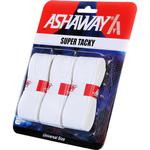 Ashaway Super Tacky Overgrips (Pack of 3): White/Blue