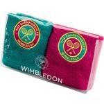 Christy Wimbledon Championships Face Cloths - Pink & Jade
