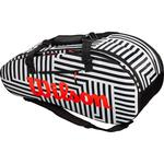 Wilson Super Tour 9 Bold Edition Racket Bag - Black/White