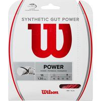 Wilson Synthetic Gut Power Tennis String Set - Red