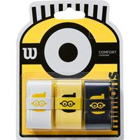 Wilson x Minions Comfort Overgrips (Pack of 3) - Black/Yellow/White