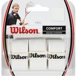 Wilson Pro Overgrips Squash (Pack of 3) - White