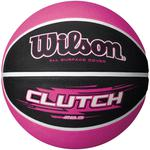 Wilson Clutch 285 Rubber Basketball - Black/Pink