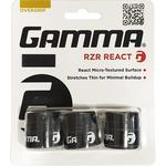 Gamma RZR React Overgrips (Pack of 3) - Black
