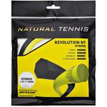 Dunlop Revolution Natural Tennis Hybrid Tennis String Set - Black/Yellow