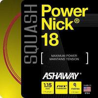 Ashaway PowerNick 18 Squash String Set - Red
