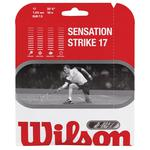 Wilson Sensation Strike 17 Squash String Set - White/Black